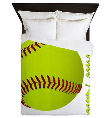 Softball Rules Queen Duvet