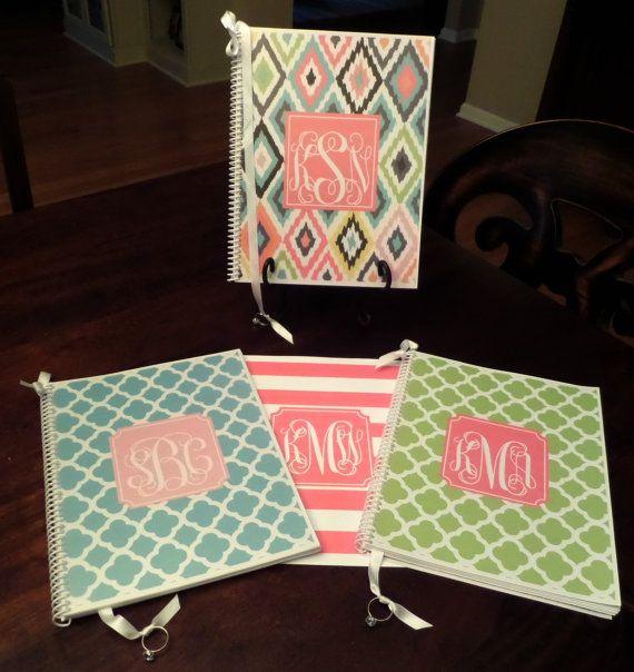 Custom Monogrammed Wedding Planner & Organizer by OrganizedBride, $30.00