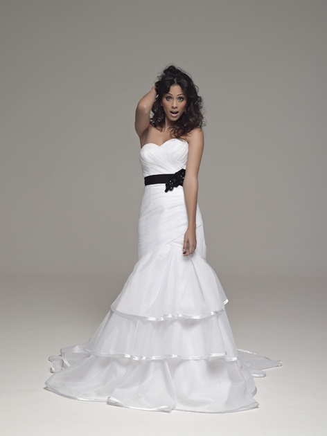 Dress by Olivelli, belt by Bridal Wardrobe. Wedding Inspirations Winter 2012 (June)
