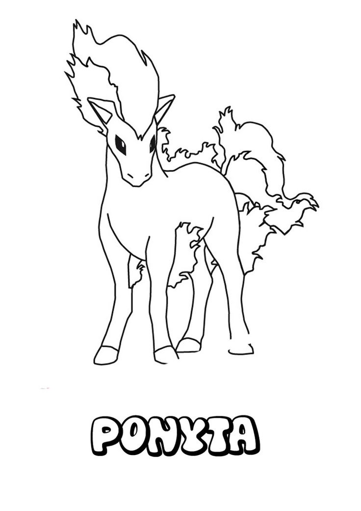 Ponyta Pokemon Coloring Page