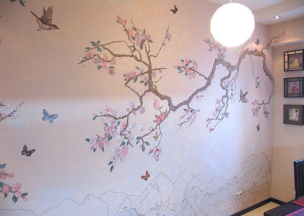 Рисунок на стене в квартире своими руками. Обсуждение на LiveInternet - Российский Сервис Онлайн-Дневников