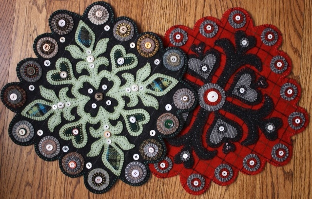 Wool Penny Art. This looks like a neat craft.