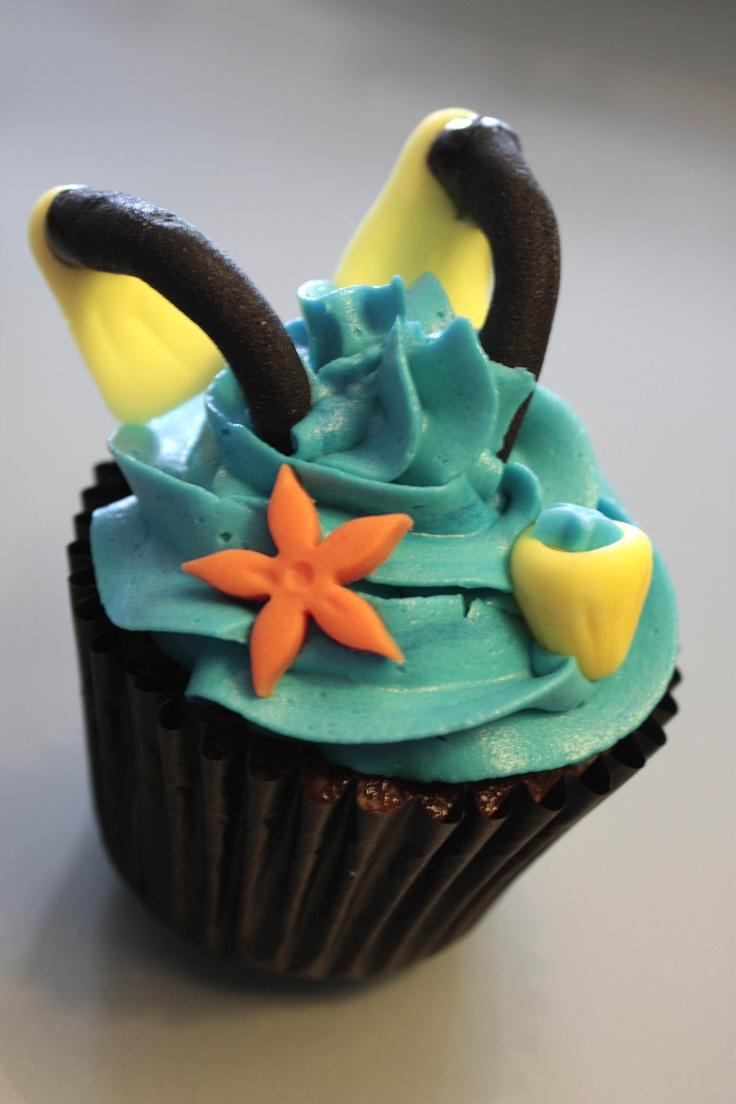 Cupcake de chocolate y relleno de dulce de leche for Decoracion en cupcakes