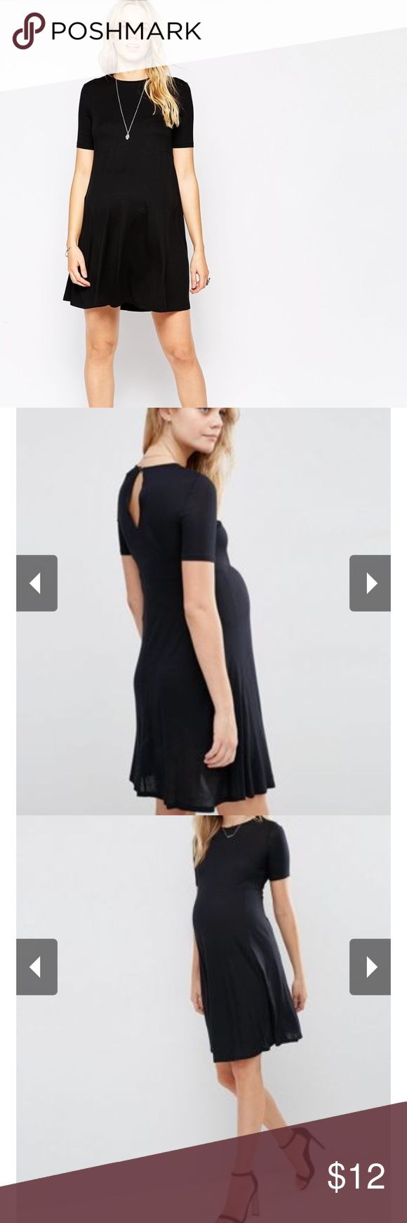 Asos maternity NWT a line tee shirt dress Super lightweight a-line maternity dress. Made of 95% viscose/5% elasthane.  (I need to steam this...getting a new steamer this week woo hoo. Would easily fit an asos curve or asos maternity 12-16) ***24 hour price drop in effect ✨🌟💫) ASOS Maternity Dresses Mini