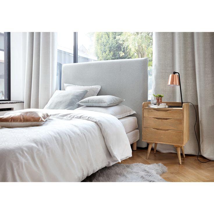 beziehbare bett kopfteil aus holz b 160 cm maisons du monde - Bett Backboard Ideen