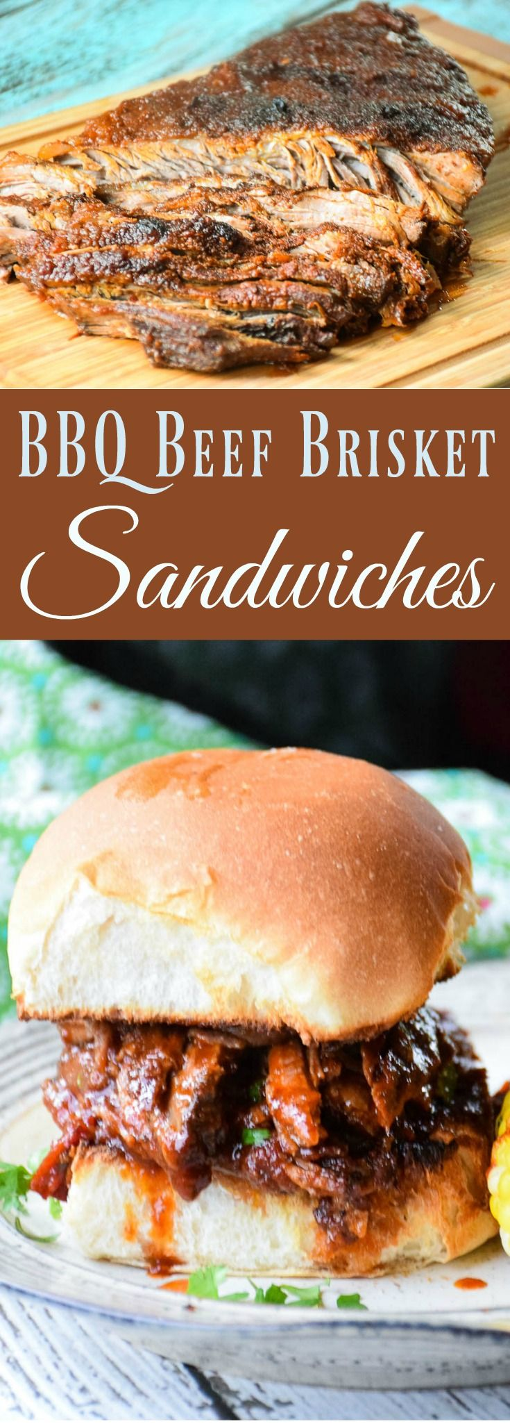 BBQ Beef Brisket Sandwiches- Certified Angus Beef brand Brisket slow cooked, full of flavor, covered in a slight sweet heat BBQ sauce and sandwiched with a hearty toasted bun! #BestBeef #SundaySupper #RootsinBoots