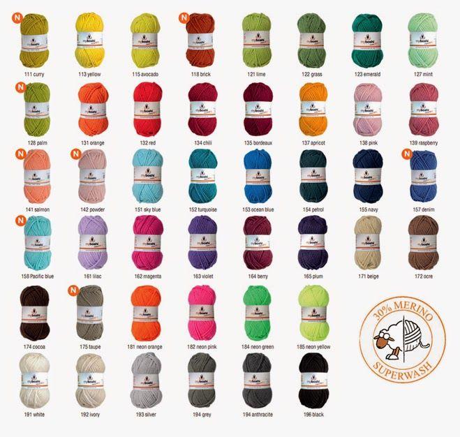 Nueva gama de colores Myboshi!!!