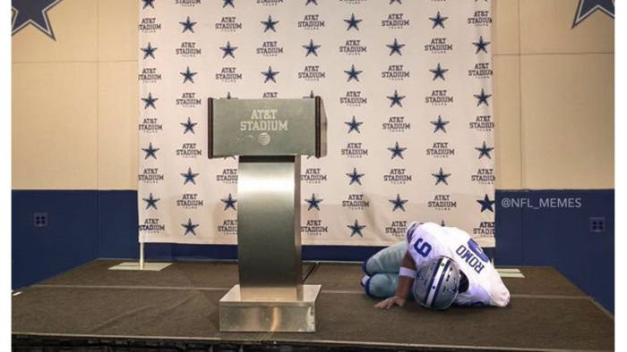 TONY ROMO INJURED ON WAY TO ANNOUNCE RETIREMENT