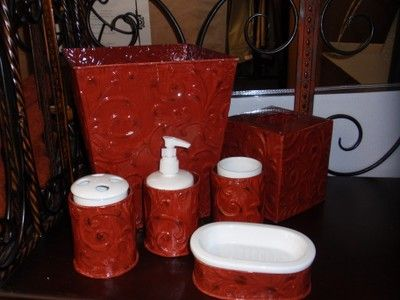 The Best Red Bathroom Accessories Ideas On Pinterest Diy