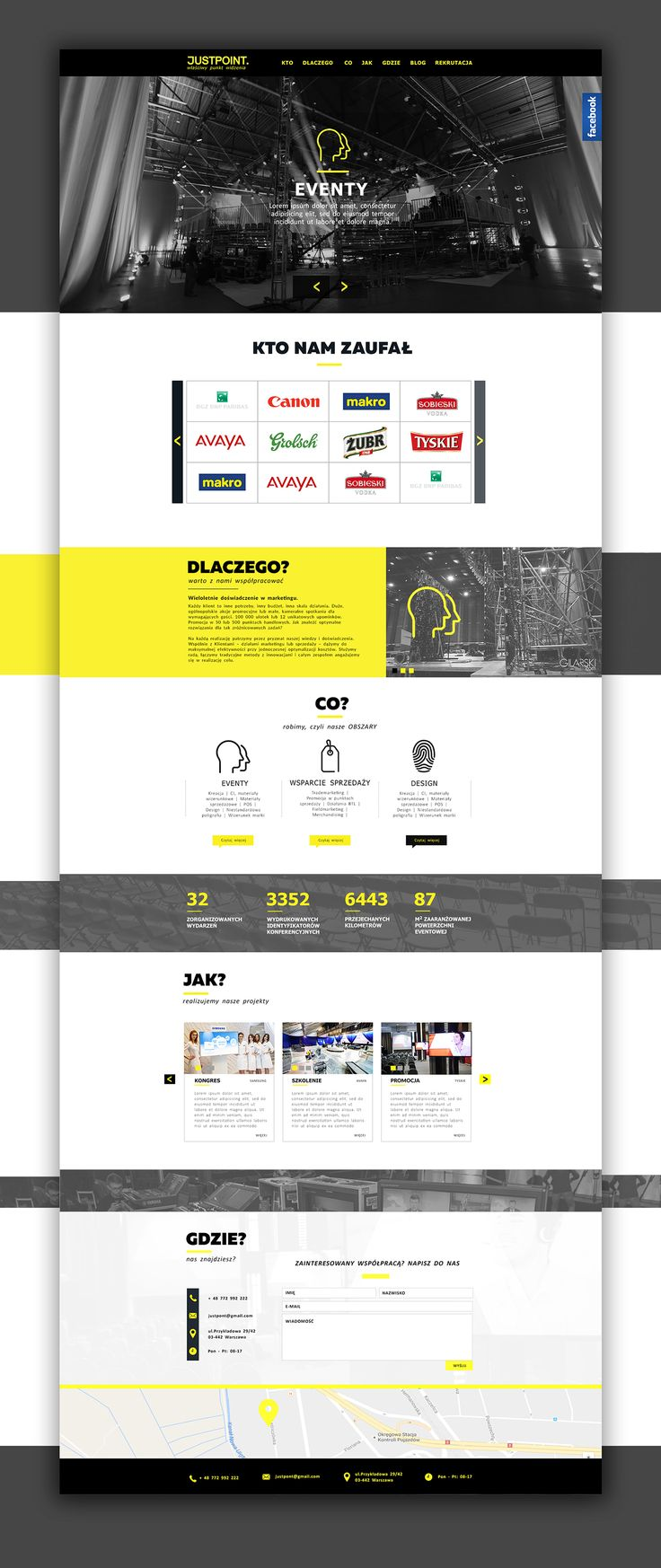 Web design inspiration UI/UX user experience fashion concept Justpoint on Behance