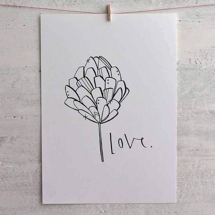 The Love print by Cheryl Rawlings at Mimosa Street.
