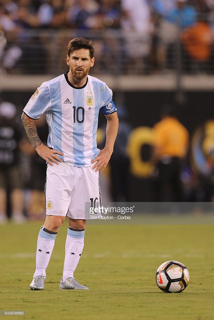 ab8929b60 Lionel Messi  10 of Argentina in action during the Argentina Vs Chile Final  match of the Copa America Centenario USA 2016 Tournament at MetLife Stadium  on ...