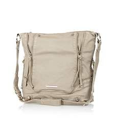 Light beige zip trim messenger bag €33.00