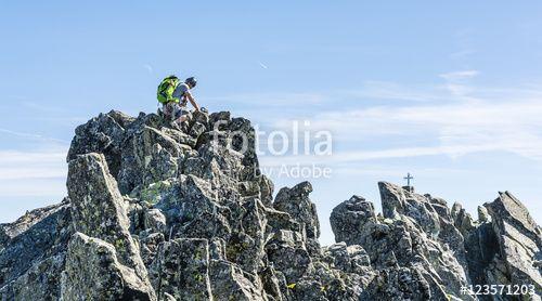 """Pobierz zdjęcie royalty free  """"Scrambling on the ridge."""" autorstwa gubernat w najniższej cenie na Fotolia.com. Przeglądaj naszą bazę tanich obrazów online i odnajdź doskonałe zdjęcie stockowe do Twoich projektów reklamowych!"""