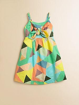 Milly Minis Toddler's & Little Girl's Mosiac Print Tie Dress
