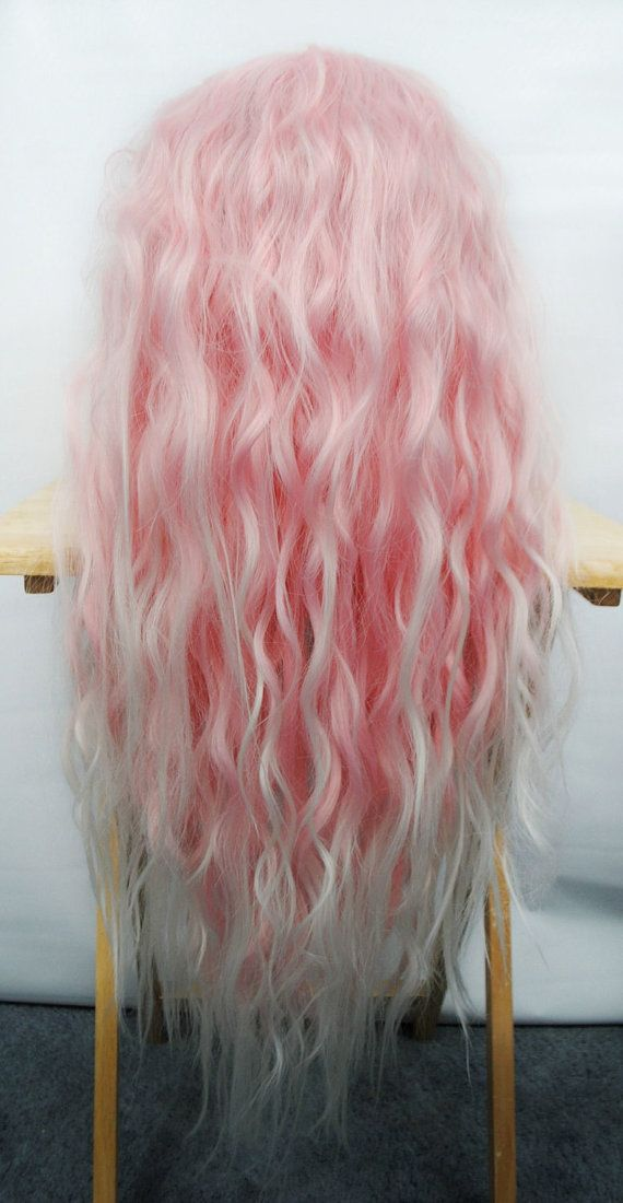 SALE Lace Front Pink wig Pastel wig Ombre wig by MissVioletLace