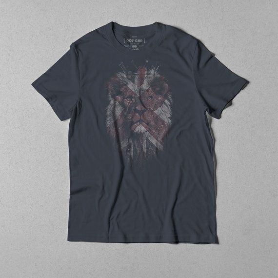 British Crown Lion banknote effect t-shirt 032 by 007GBR on Etsy