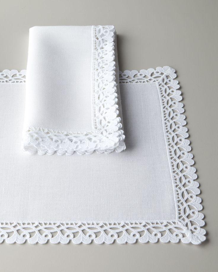 "Ricamo 68"" x 126"" Oblong Tablecloth, White - Matouk"