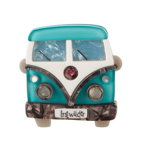 """""""It's with the company of good friends that we drive on through the night. The journey is the real destination."""" Height 5 cm x Width 5 cm  *FREE SHIPPING automatically when you buy two or more Erstwilder pieces!  Each piece is hand assembled, hand painted and released in a limited edition of ..."""