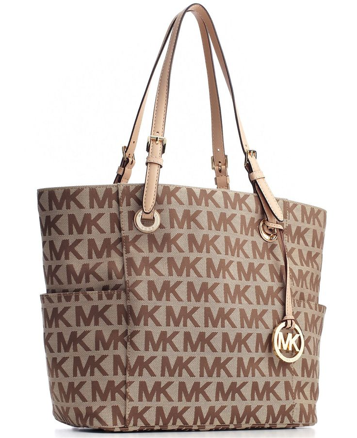 MICHAEL Michael Kors Handbag, Block Monogram Signature Tote - Tote Bags -  Handbags \u0026 Accessories