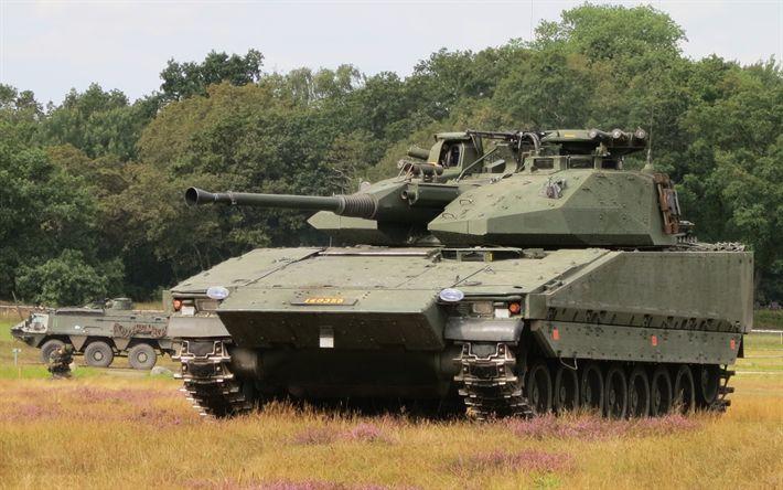 Descargar fondos de pantalla Vehículo de combate de los 90, el FMV, sueco vehículo de combate de infantería, vehículos blindados, el ejército, Suecia