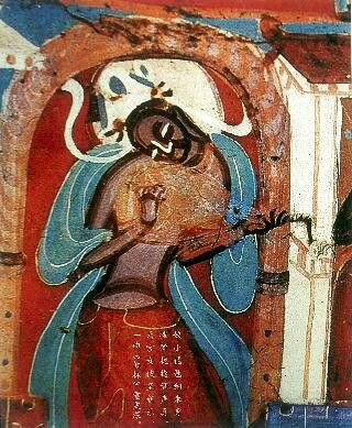 Dunhuang Mogao Cave 435, the Northern Wei Dynasty (386-534) Heavenly Music and Dancing murals.