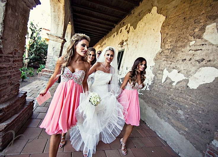 love these bridesmaid dresses: Pink Bridesmaid, Wedding Ideas, Bridesmaid Dresses, Weddings, Pretty Bridesmaid, Bridesmaids Dresses, Dream Wedding, Future Wedding, Pink Dress