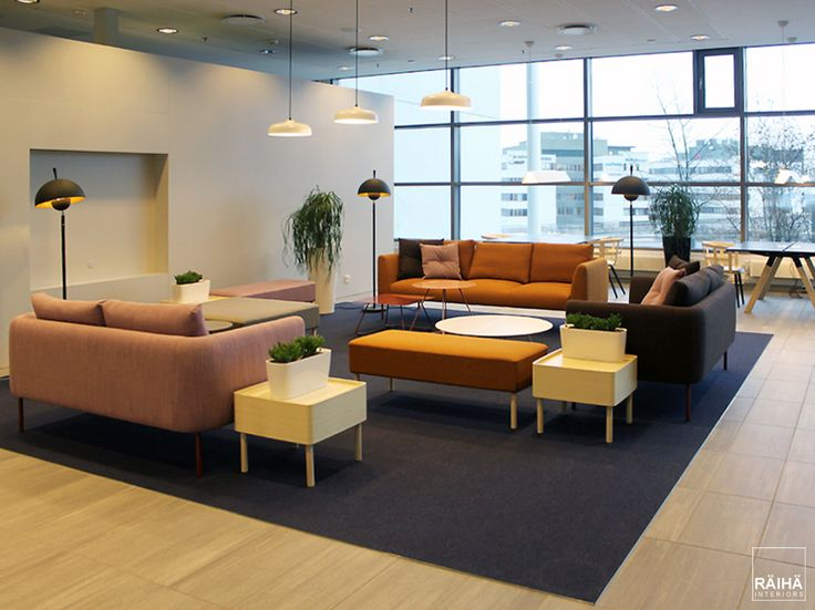 interior architecture by RÄIHÄ interiors   office design, modern office, lobby, entrance, go-working, trend colors 2017. Interior design Päivi&Lars Räihä, 2016