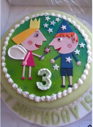 Holly and Ben cake