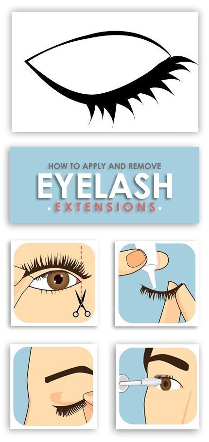 60c4058f540 How to Apply and Remove Eyelash Extensions. #FrenchBeautyTips ...