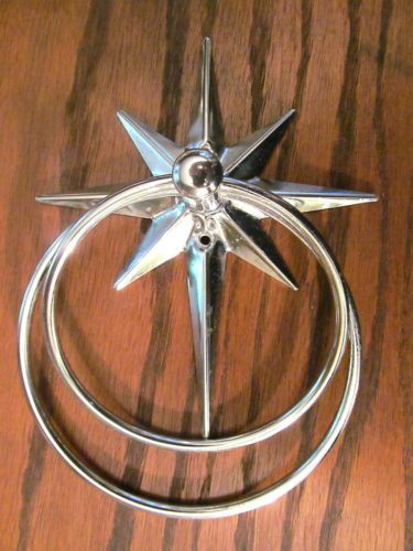 Vintage STARBURST Towel Ring Chrome Mid Century Modern 1950s - 60s Bathroom