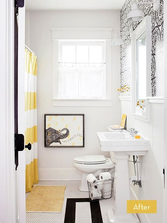 Yellow And White Bathroom Decorating Ideas best 25+ yellow bathroom accessories ideas on pinterest | yellow