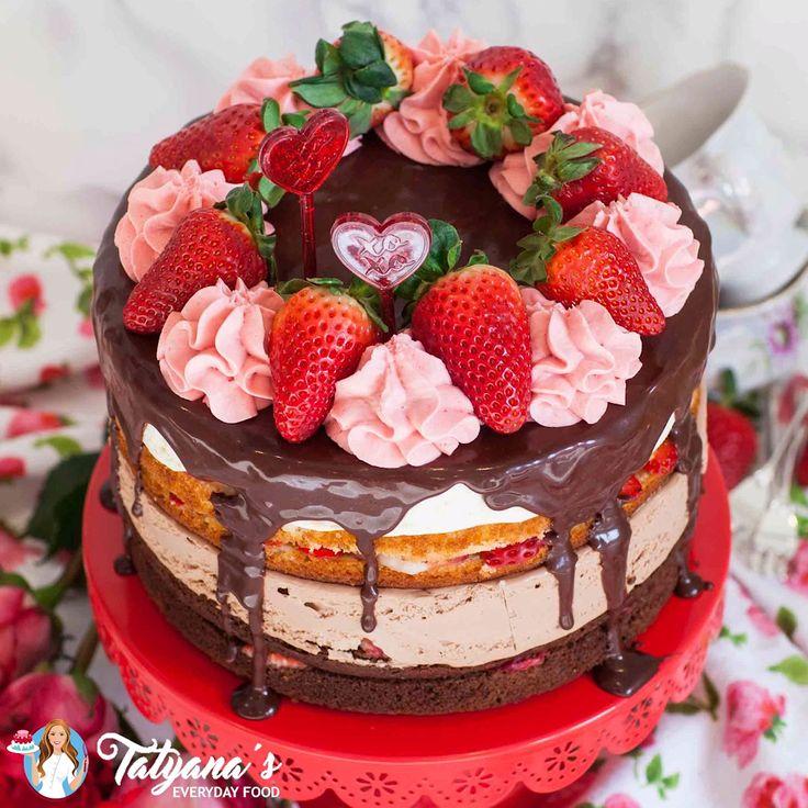 Strawberry Tuxedo Cake – Janie Blank