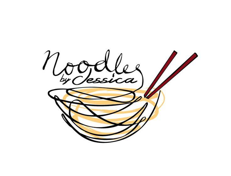 Noodles by Jessica Logo Design
