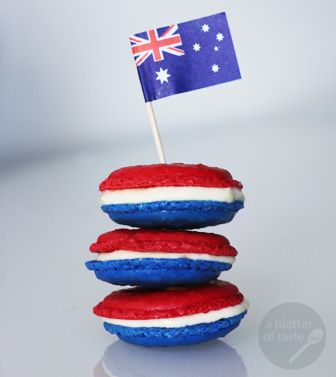 4th of July *Food* - Macarons (these ones were for Australia Day)