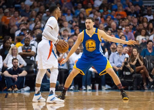 Klay Thompson battling heel injury | Dr. Parekh = Klay Thompson out today with a sore heel. Best case is contusion or bruise which would mean RTP within one week. Worst-case is…..