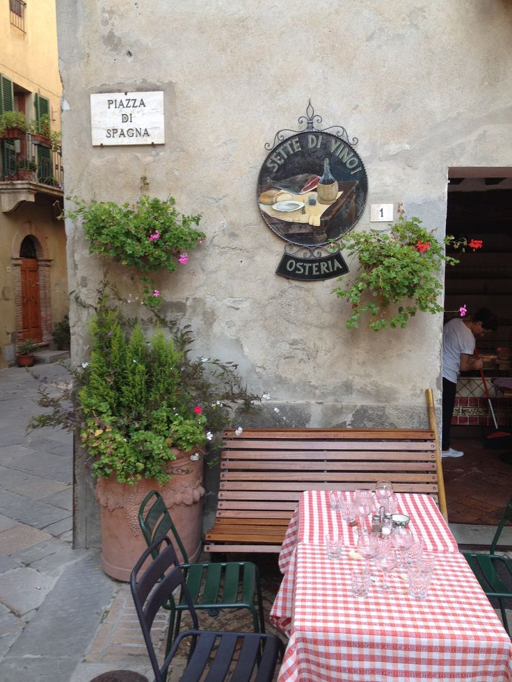 Sette di Vino, great Osteria in Pienza