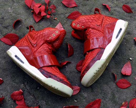 """Red October"" Nike Air Yeezy 1 Customs 