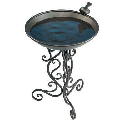 Ornate Metal Bird Bath