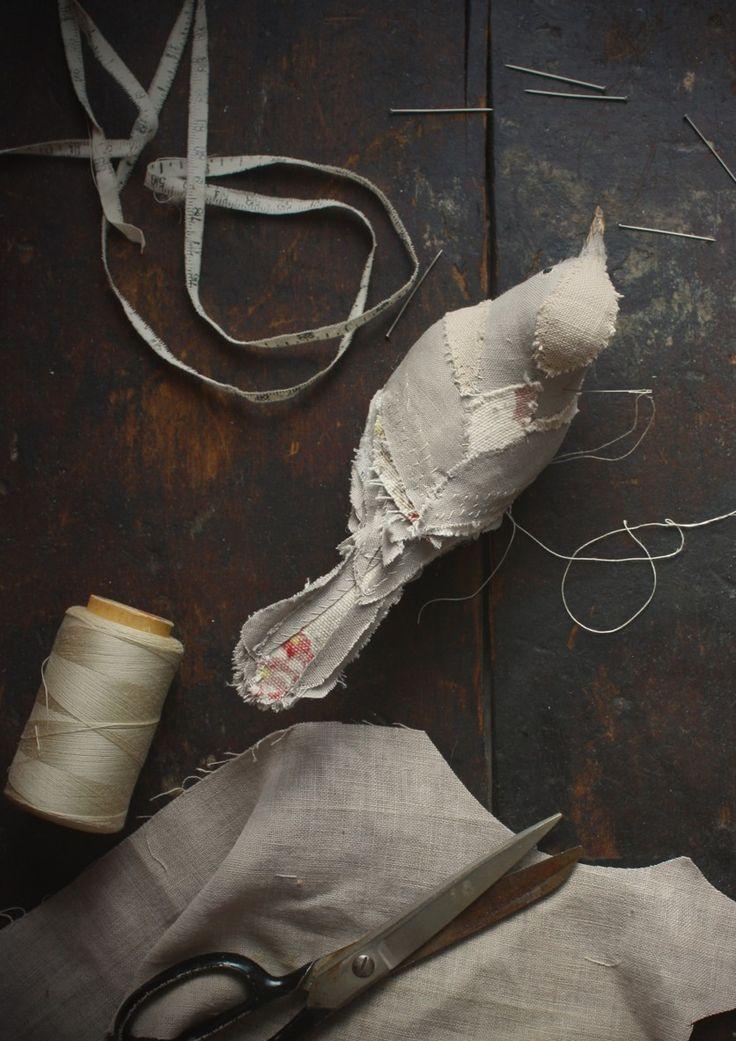 hand stitched songbird. Ann Wood Handmade. Brooklyn.