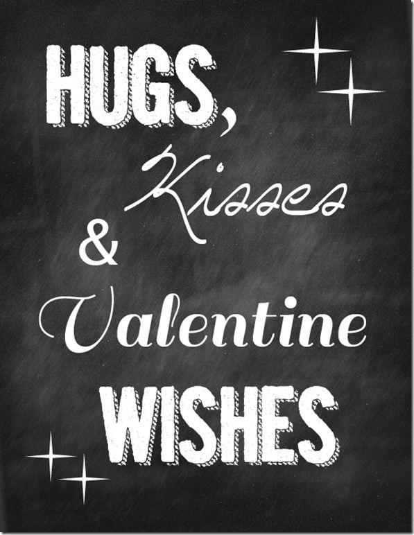 hugs kisses and valentine wishes chalkboard thumb 5 Valentine Chalkboard Printables