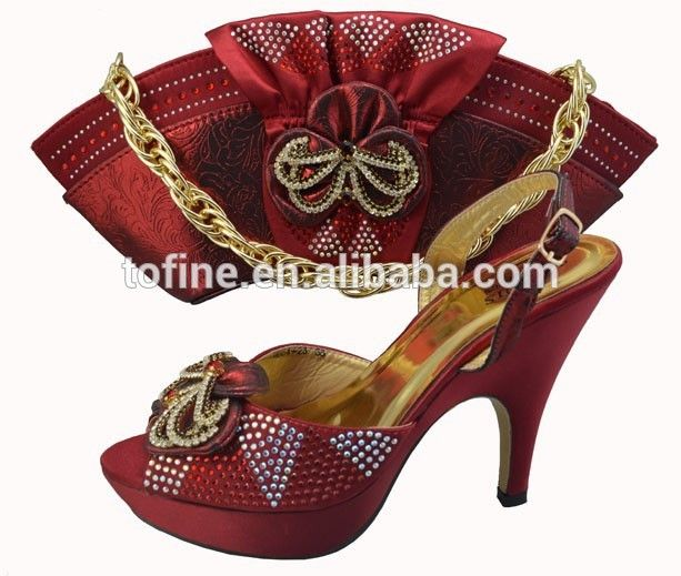 wholesale high quality fashion shoes ladies italian matching shoes and bags for party