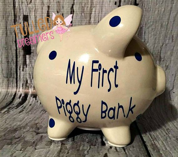 Boy Piggy Banks Personalized,Girls Piggy Banks,Personalized Piggy Bank,Girl…