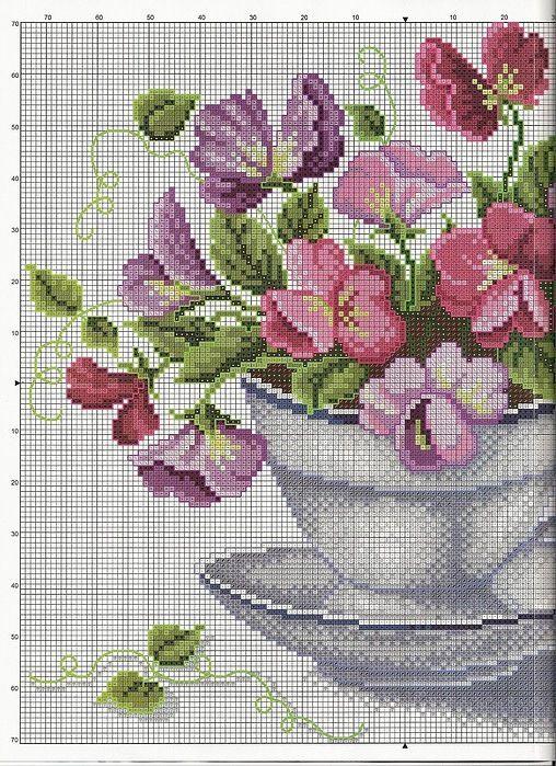 Vase of pink flowers 1