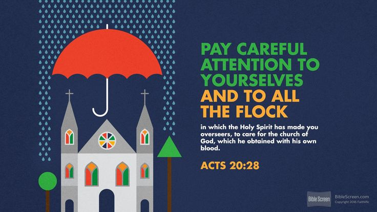 The price being Christ's blood, what it has bought is to be especially cared for. Acts 20:28 (ESV) - Biblia.com
