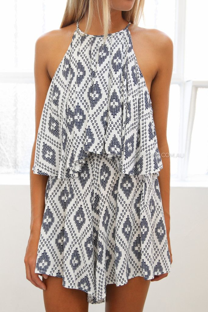 romper with tribal print -- I need summer now!