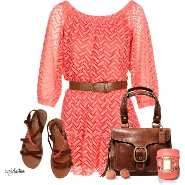 Cute Outfit: Crochet Dresses, Dreams Closet, Summer Outfit, Color Combos, Fashionista Trends, Girls Clothing, Brown Boots, Cute Outfit, The Dresses