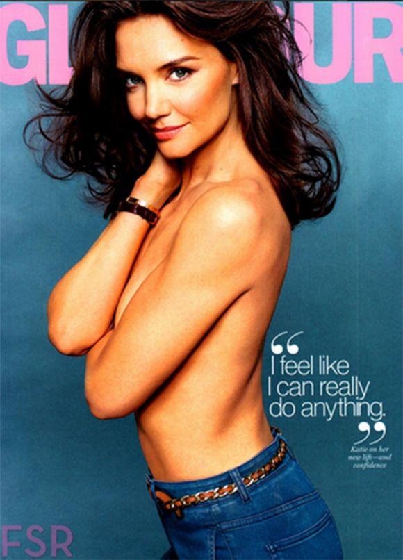 Katie Holmes seins nus pour le magazine Glamour