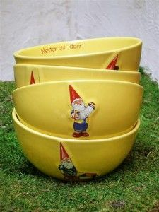 vintage French gnome bowls, sweet!