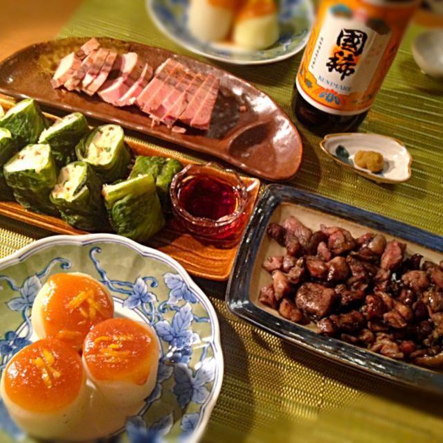 今日は宮崎祭り!お酒は北海道の国稀なまりぶし、めちゃうまい!ラパンママありがとう❤️❤️ - 145件のもぐもぐ - 本日の晩酌〜ふろふき大根、鱈とはんぺんのレタス巻き、ラパンママから頂いた地鶏炭火焼き、なまりぶし、国稀 by sakichan63